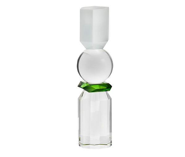 Memphis T-Light Holder White/Clear/Green