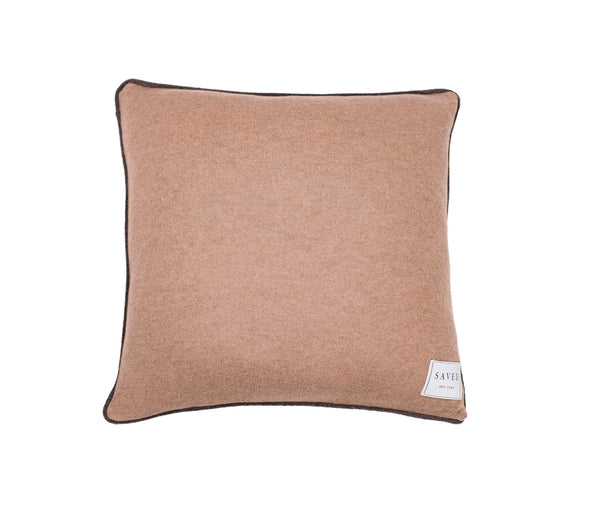 White Pipe Design Camelhair Cushion