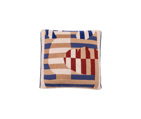 Motif & Stripes Designed Urns Cushion