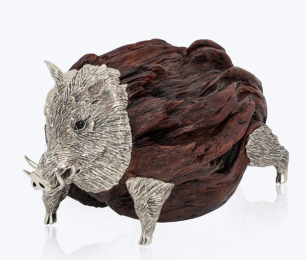 Wooden Boar Sculpture
