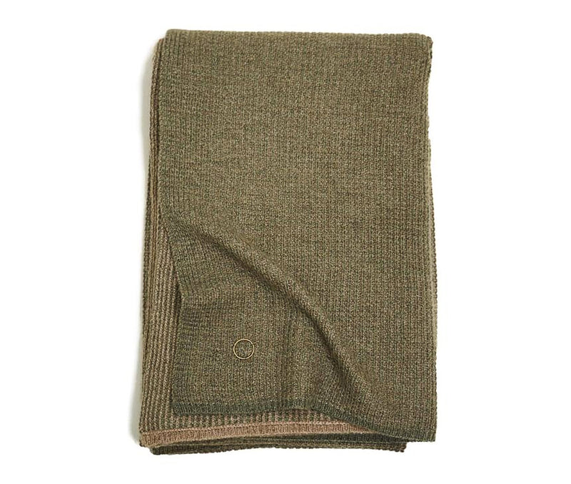 Tundra Textured Waffle Knit Cashmere Throw