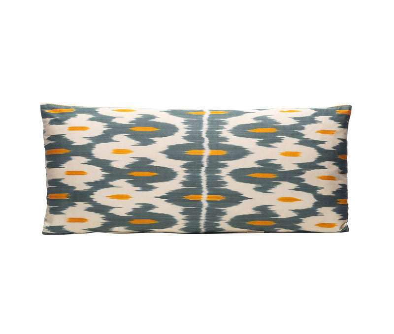 Mastic Resin Silk Suzani Cushion Double Sided Ikat