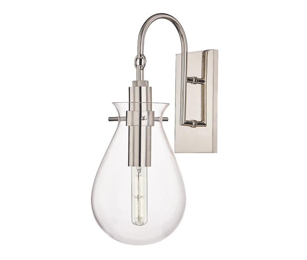 Ivy Polished Nickel 1 Light Wall Sconce