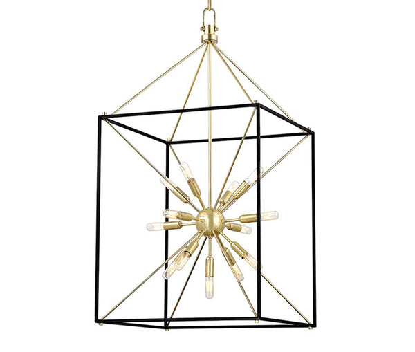Glendale aged brass 13 light chandelier