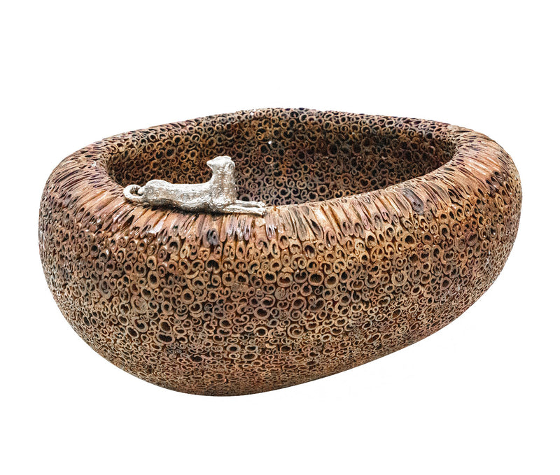 Cinnamon Bowl with Cheetah