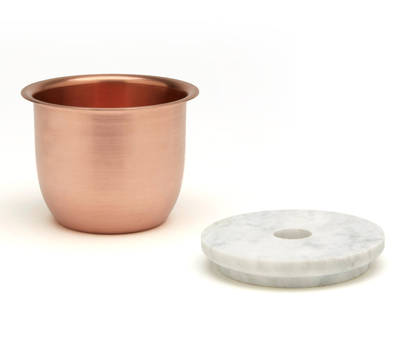 C3 | Small Container Copper - Marble Lid