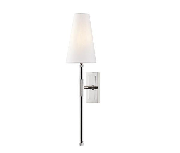 "Bowery Polished Nickel 1 Light ""a"" Wall Sconce"