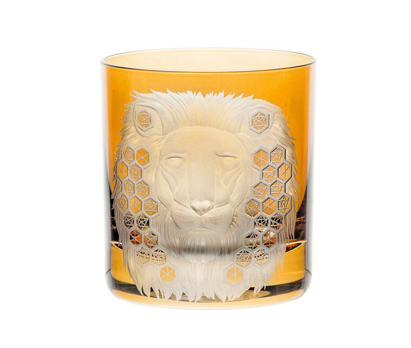 African Safari Lion Double Old Fashioned