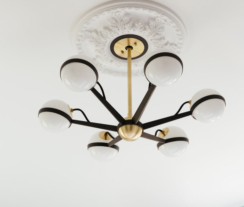 Ace Textured Bronze Brushed Brass ace 6lt Chandelier