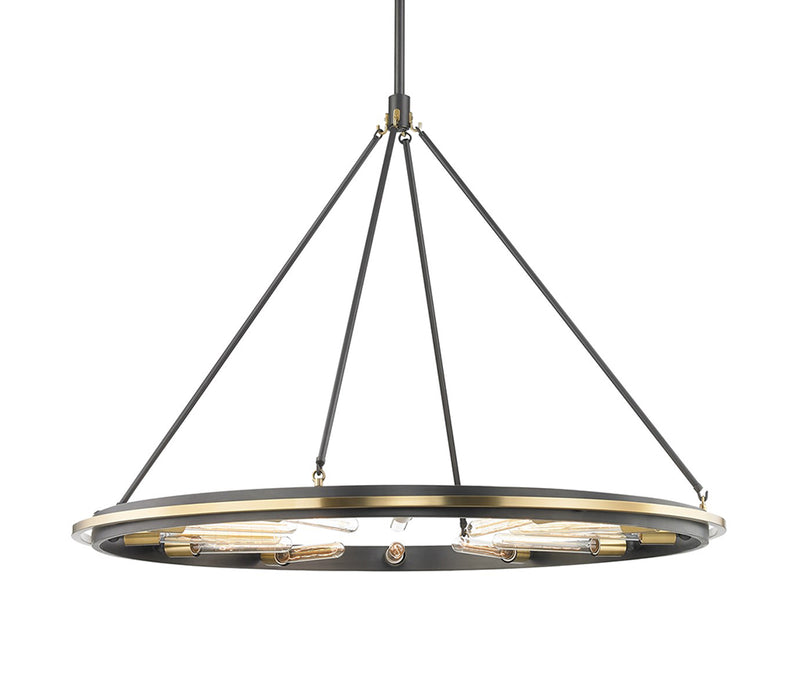 Chambers 12 Light Pendant Aged Old Brass
