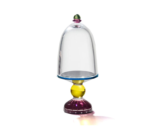 Empire Glass Bell Clear/black/azure/Yellow/aubergine