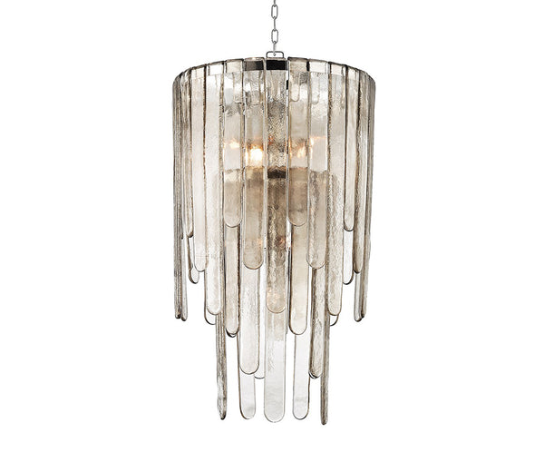 Fenwater polished nickel 9 light pendant