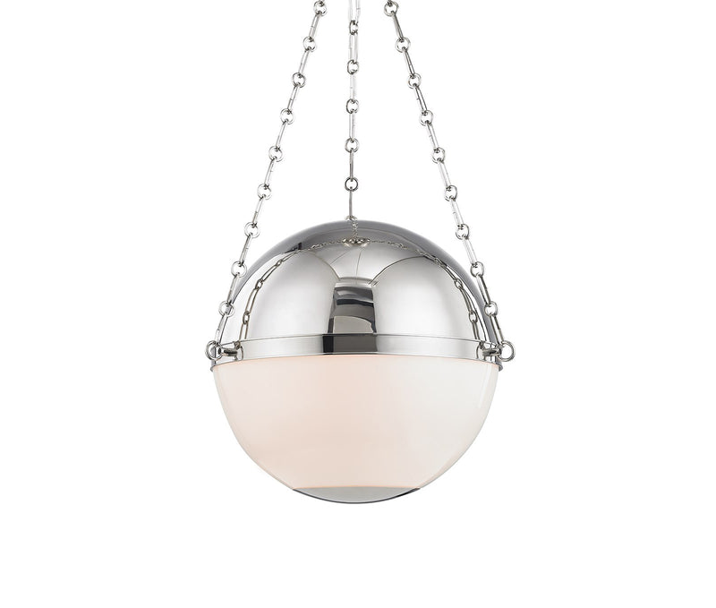 Sphere No.2 Polished Nickel 3 Light Large Pendant