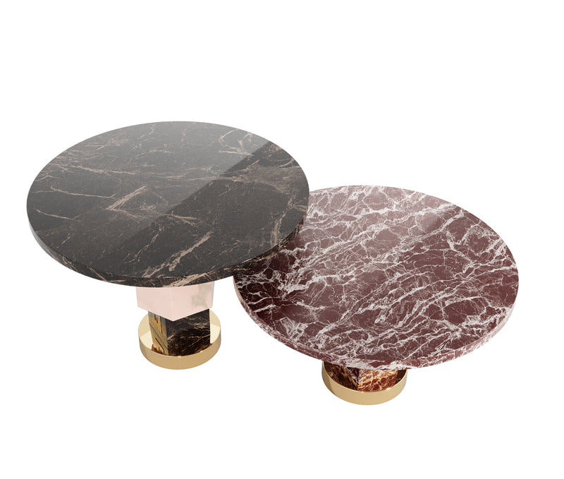 Niagara Marble Round Side Table