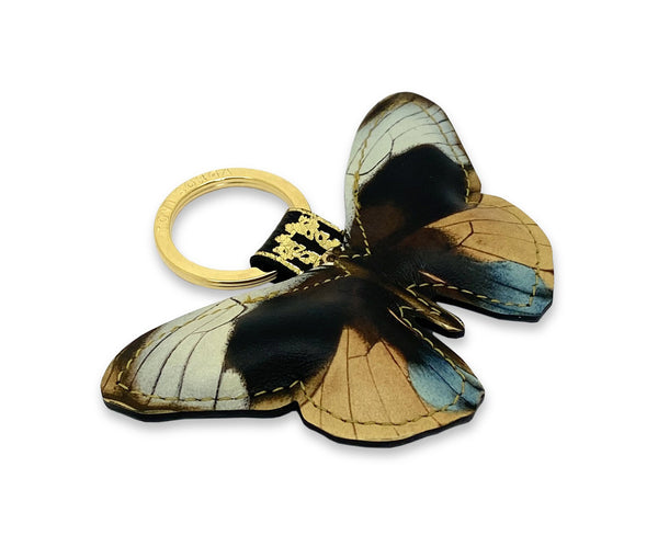Leather Key Ring - Dusk Butterfly