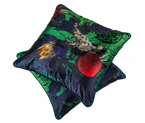 Pomegranate and Squirrel Cushions