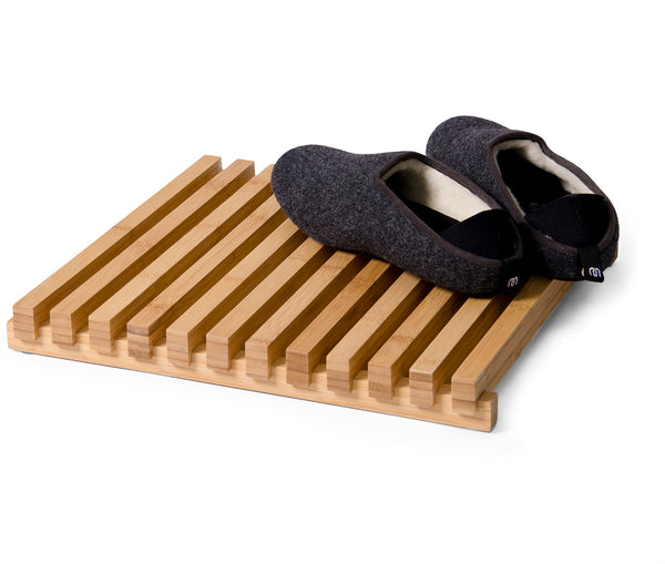 Slatted Shower Mat Arena Bamboo