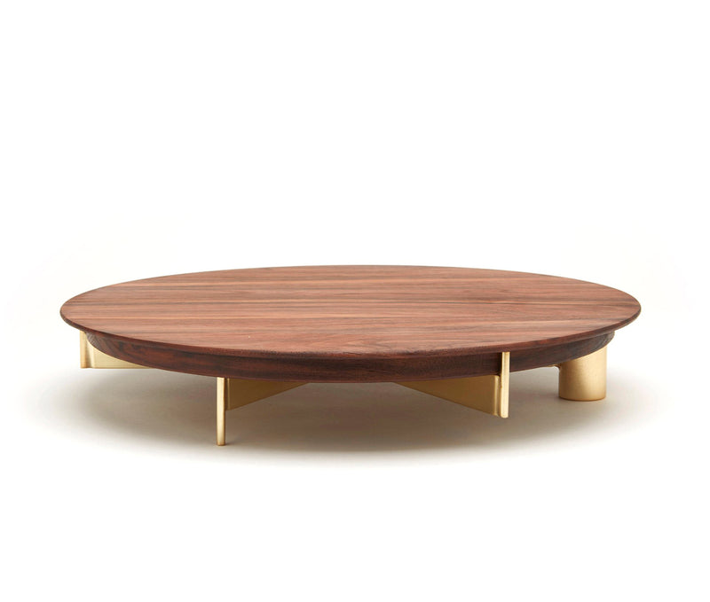 T4 | Cake Stand - Large Walnut Top