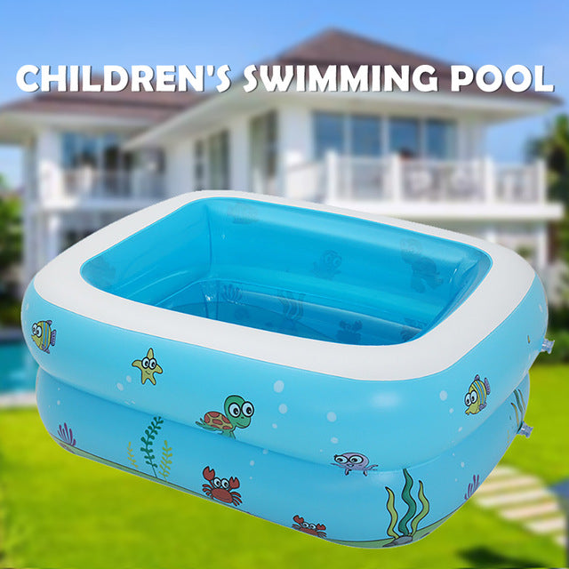 110/120/150cm Baby Home Use Paddling Pool Inflatable Square Swimming Pool Summer Kids Play Bathtub Outdoor Inflatable Pool