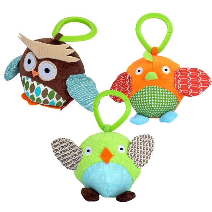 10*10cm Baby Toys 0-12 Months Cute Small Animal Owl Rattles Infant Cartoon Bed Hanging Toys Baby Stroller Toy Crib Mobiles