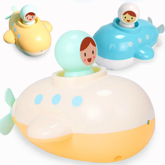 Baby Bath Submarine Toy Kid Bathroom Education Water Toy Child Boys Girls 1 to 3 Happy Toddler Bathtub Foam Beach Swimming Pool