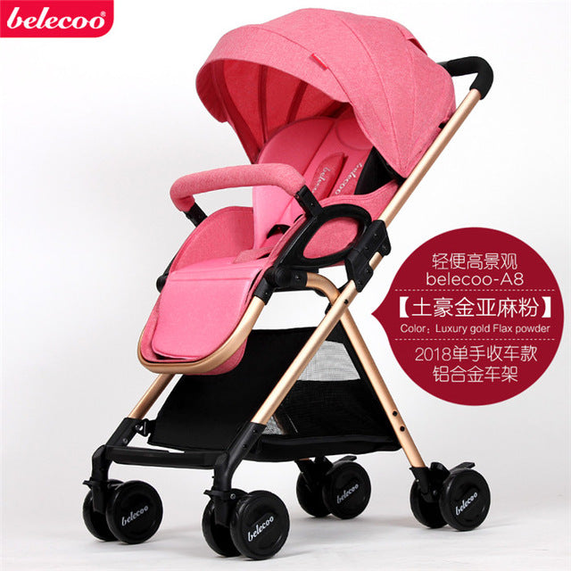 0-3 years old baby stroller can sit reclining light folding shock absorption small baby hand push umbrella car light high landsc