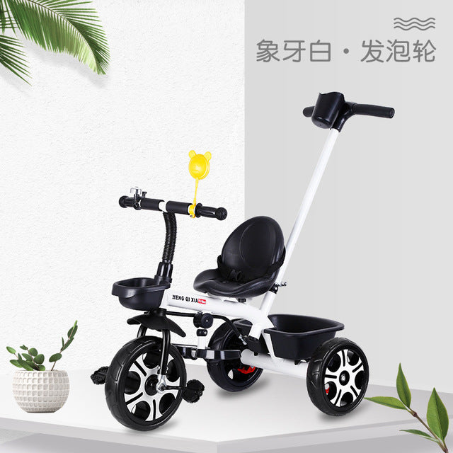 Children's Tricycle Bicycle 1-6 Years Old Baby Stroller Kids Bike Seat Adjustable Three Wheel Stroller Infant Push Chair Cart