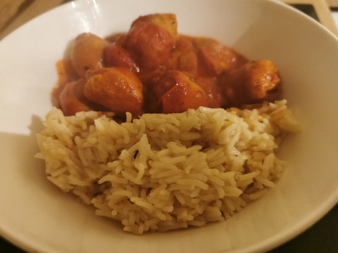 Tasty Chicken Sausage with Rice