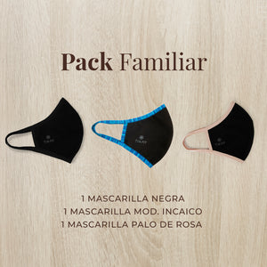 Mascarillas 3-Pack Familiar