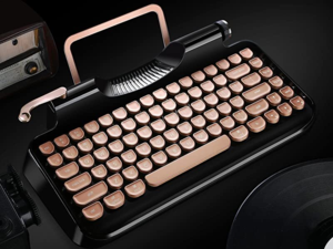 HOT SALE!-50% OFF !-Typewriter Style Mechanical Wired & Wireless Keyboard