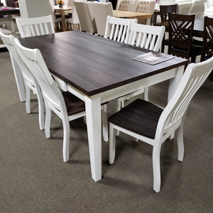7-Piece Espresso Top Dining Set
