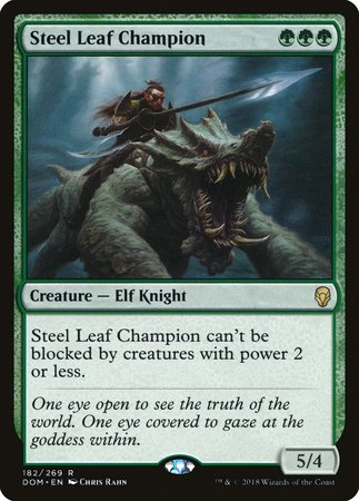 Steel Leaf Champion [Dominaria] | The Game Chamber