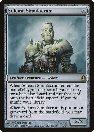 Solemn Simulacrum [Commander 2011] | The Game Chamber
