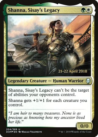 Shanna, Sisay's Legacy [Dominaria Promos] | The Game Chamber