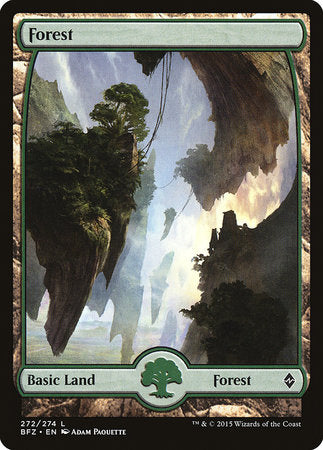 Forest (272) - Full Art [Battle for Zendikar] | The Game Chamber