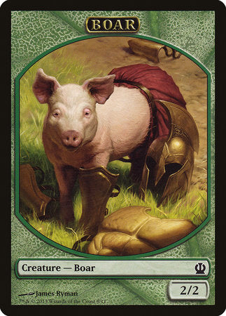 Boar Token [Theros Tokens] | The Game Chamber