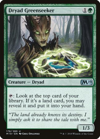 Dryad Greenseeker [Core Set 2019] | The Game Chamber