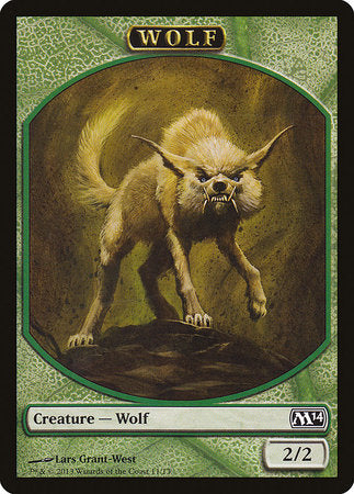 Wolf Token [Magic 2014 Tokens] | The Game Chamber