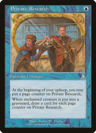 Private Research [Urza's Destiny] | The Game Chamber