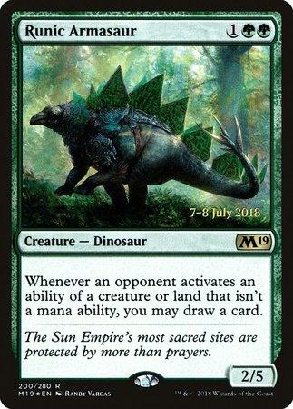 Runic Armasaur [Core Set 2019 Promos] | The Game Chamber