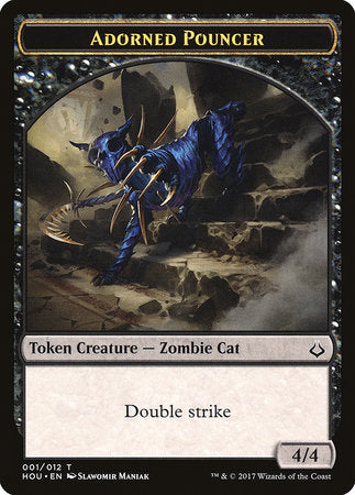 Adorned Pouncer Token [Hour of Devastation Tokens] | The Game Chamber