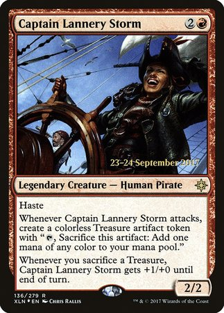 Captain Lannery Storm [Ixalan Promos] | The Game Chamber