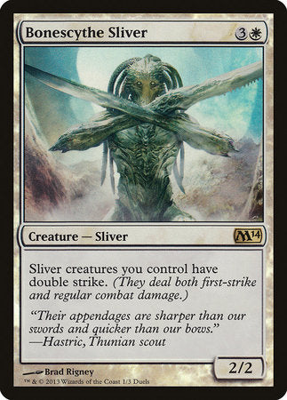 Bonescythe Sliver [Duels of the Planeswalkers Promos 2013] | The Game Chamber