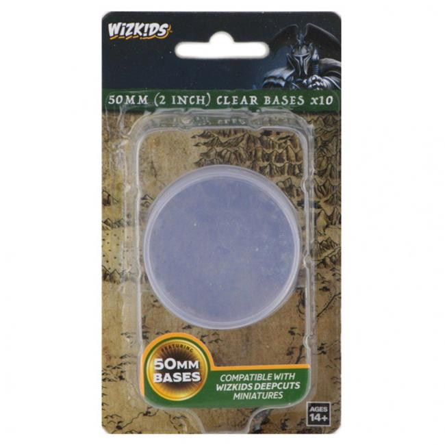WizKids 50mm Clear Bases x10 | The Game Chamber