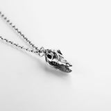 .925 Croc Skull Necklace
