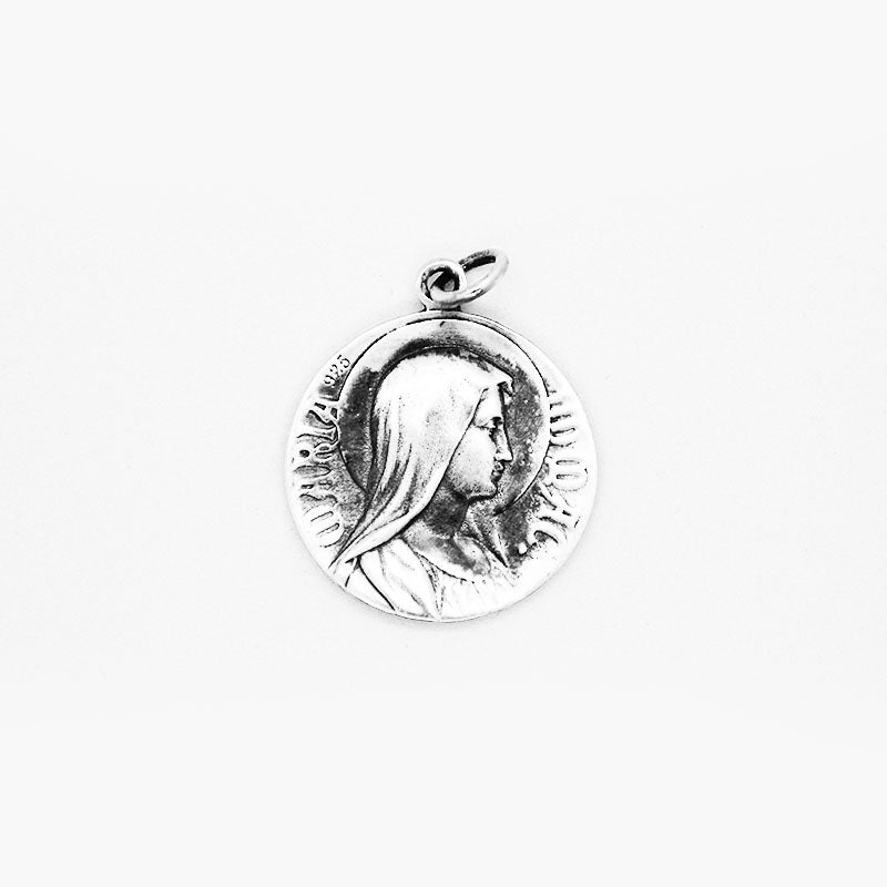.925 Sterling Silver Double Sided Jesus Christ & Mary Pendant | Invicta London