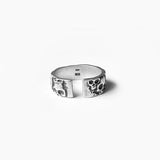 .925 Sterling Silver Multi Skull Ring | Invicta London