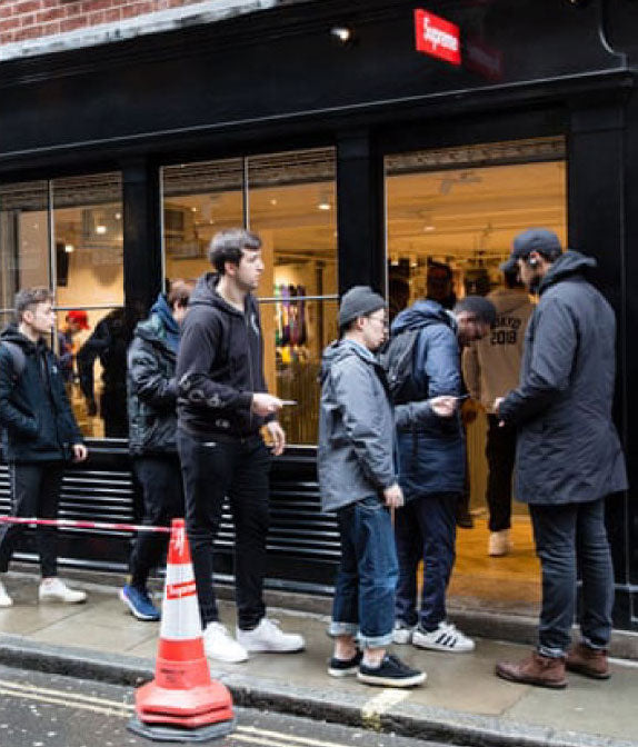 Waiting in line for hours at cult favourite Supreme