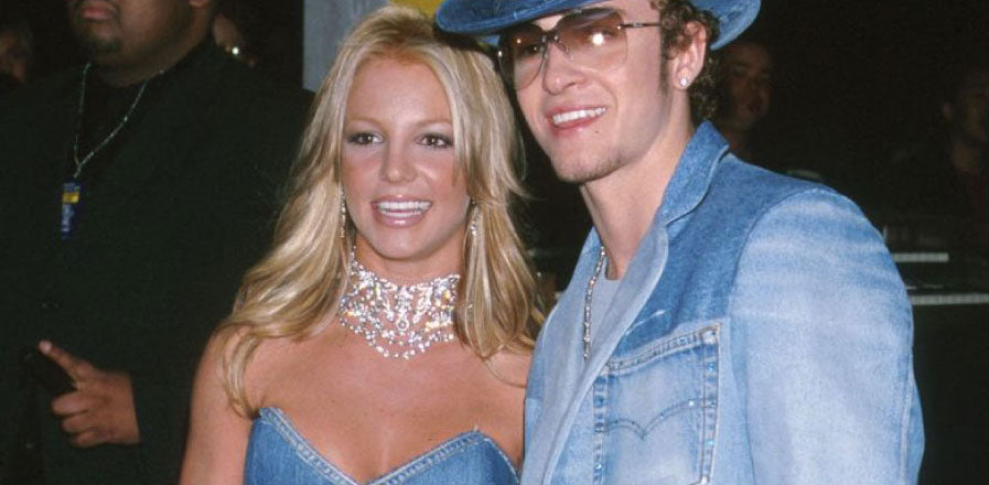 Denim clad Justin Timberlake and Britney Spears