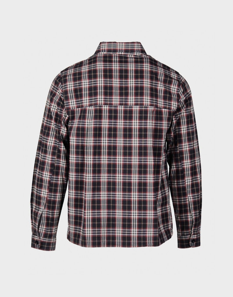 Albam Brushed Flannel Blake Jacket - Charcoal Tartan Check - The 5th